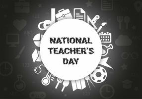 Free Teachers Day Vector