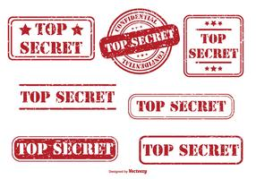 Top Secret Rubber Stamp Set