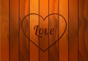Free Heart Carved Wood Vector