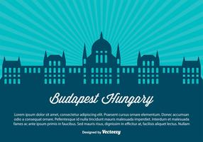Budapest Hungary Skyline Illustration