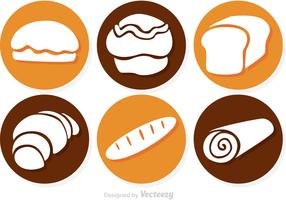 Circle Bread Vector Icons