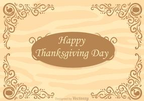 Thanksgiving Border In Wood Vector