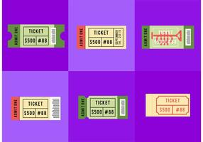 Concert Ticket Stub Vectors