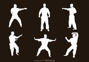 Martial Art Silhouette Vectors