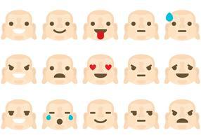 Buddha Emoticon Vectors