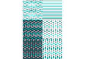 Retro Green Gray Pattern Set