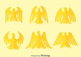 Flat Deco Golden Eagle Vectors