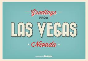 Vintage Las Vegas Greeting Poster