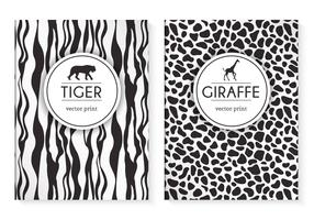 Free Wild Animal Prints Vector Cover