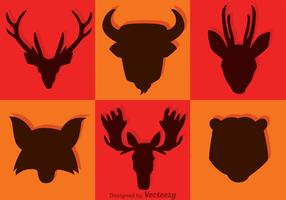 Animal Head Silhouette Vectors