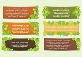 Ivy Leaves Banner Vectors