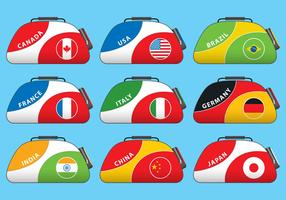 Vector Duffle Bag With Flags