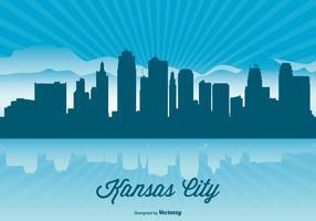 Kansas City Skyline Illustration
