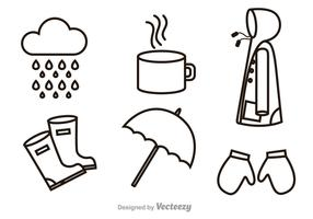 Rainy Outline Icons