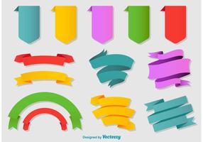 Colorful Flat Ribbons