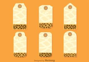 Giraffe Print On Hanging Note Template