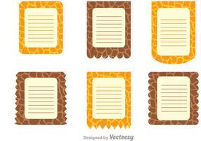 Giraffen-Druck auf Papier-Vorlage