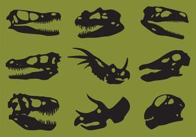 Dinosaur Skull Silhouette Vectors