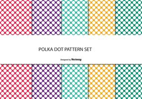 Colorful Polka Dot Pattern Set