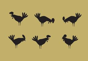Rooster Silhouette Vector Pack