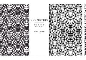 Free Geometric Dotted Waves Vector Patterns