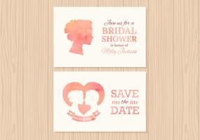 Free Wedding Invitation Vector Cards