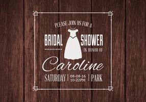 Free Bridal Shower Vector Invitation