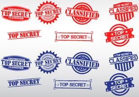 Top Secret Stamp Vectors