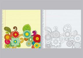Paisley Notebook Vectors