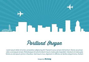 Portland Skyline Illustration