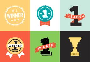 Trophy and Awards Vector Icons, Badges Set