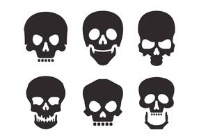 Skull Silhouette Vector Set