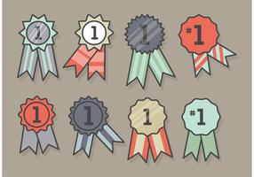 First Place Ribbon Icon Set