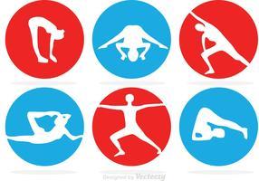 Circle Gymnastics Vector Icons