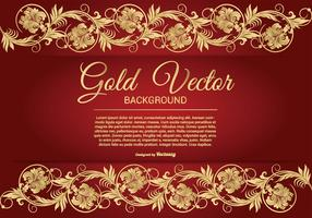 Elegant Gold and Red Background Illustration