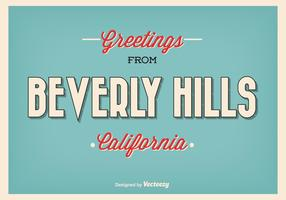 Retro Style Beverly Hills Greeting Illustration