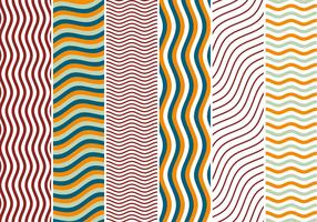 Zigzag Waves Background Vectors