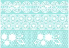Crochet Lace Vector Set
