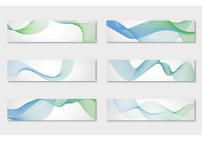Abstract Waves Background Vectors