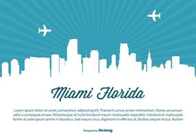 Miami Skyline Illustration