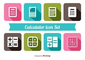 Trendy Calculator Icon Set