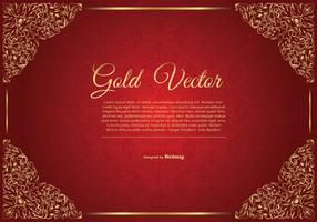 Elegant Gold Red Background Illustration