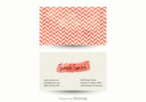 Free Vector Chevron Business Card Template