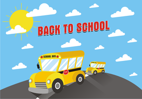 School Bus Background Free Vector