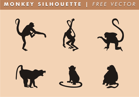 Monkey Silhouette Free Vector
