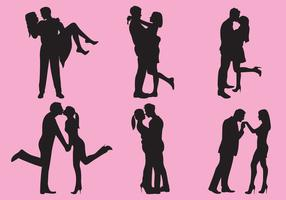 Woman And Man Love Silhouettes