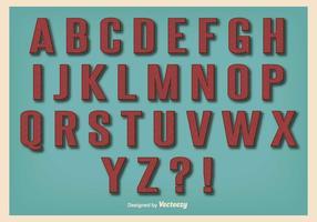 Retro Vintage Style Alphabet Set