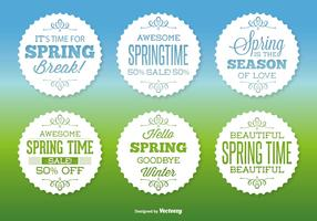 Assorted Spring Label Set
