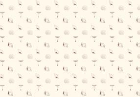 Sea shells pattern background