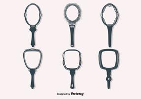 Free Vector Vintage Hand Mirrors